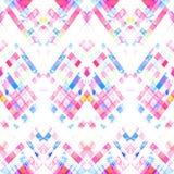 Modèle géométrique fait main sans couture Image stock