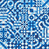 Modèle géométrique irrégulier d'édredon de blocs recouvert par couleur blanche bleue sans couture de vecteur Photos stock