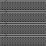 Modèle géométrique moderne sans couture noir et blanc des lignes et des places illustration de vecteur