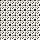 Modèle géométrique monochrome de vecteur abstrait de concept Fond minimal noir et blanc Calibre créatif d'illustration Photos stock