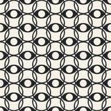 Modèle géométrique monochrome de vecteur abstrait de concept Fond minimal noir et blanc Calibre créatif d'illustration Photographie stock libre de droits