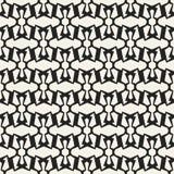 Modèle géométrique monochrome de vecteur abstrait de concept Fond minimal noir et blanc Calibre créatif d'illustration Images stock
