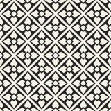 Modèle géométrique monochrome de vecteur abstrait de concept Fond minimal noir et blanc Calibre créatif d'illustration Photo libre de droits