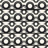Modèle géométrique monochrome de vecteur abstrait de concept Fond minimal noir et blanc Calibre créatif d'illustration Photos libres de droits