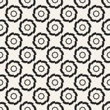 Modèle géométrique monochrome de vecteur abstrait de concept Fond minimal noir et blanc Calibre créatif d'illustration Image libre de droits