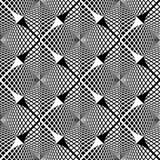 Modèle géométrique monochrome sans couture de conception Images libres de droits