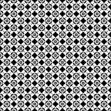 Modèle géométrique noir et blanc sans couture Photos stock