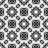 Modèle géométrique noir et blanc sans couture Image stock