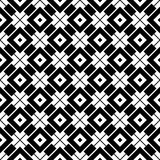 Modèle géométrique noir et blanc sans couture Photographie stock