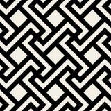 Modèle géométrique noir et blanc sans couture de tuile de place de croix de losange de vecteur Photographie stock