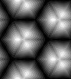 Modèle géométrique polygonal monochrome sans couture Approprié au textile, au tissu, à l'emballage et au web design Illustration Stock