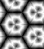 Modèle géométrique polygonal monochrome sans couture Les rayures diminuant vers le centre créent l'illusion de la profondeur et d Illustration Libre de Droits
