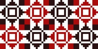 Modèle géométrique pour la broderie en Ukraine, Pologne, Belarus, RO photographie stock