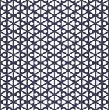 modèle géométrique pourpre abstrait d'art de deco d'hexagone Photos stock