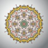 Modèle géométrique rond ornemental dans le style latino-américain Photos libres de droits