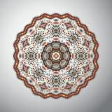 Modèle géométrique rond ornemental dans le style latino-américain Photographie stock