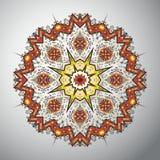 Modèle géométrique rond ornemental dans le style latino-américain Image libre de droits