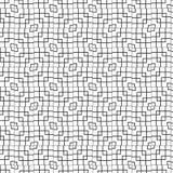 Modèle géométrique sans couture abstrait d'ornement de noirs illustration grille de vecteur de fond de conception de symbole grap illustration stock