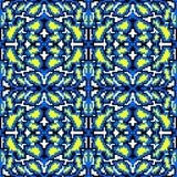 Modèle géométrique sans couture abstrait de pixels lumineux de vintage beau Image libre de droits
