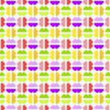 Modèle géométrique sans couture abstrait de sucreries Photo stock