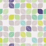 Modèle géométrique sans couture avec des feuilles Photos libres de droits