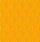 Modèle géométrique sans couture avec des nids d'abeilles Image libre de droits