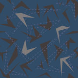 Modèle géométrique sans couture avec des polygones illustration de vecteur