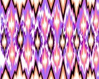 Modèle géométrique sans couture, basé sur le style de tissu d'ikat Illustration de vecteur illustration stock