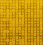 Modèle géométrique sans couture d'or carré de vecteur de Brown Images stock