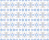 Modèle géométrique sans couture dans des couleurs bleues, blanches, et noires de gradient Dirigez l'illustration, EPS10 illustration stock