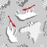 Modèle géométrique sans couture dans le style de Memphis illustration libre de droits