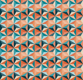 Modèle géométrique sans couture de carrelage de triangle de vecteur en Teal And Orange Colours Photo libre de droits