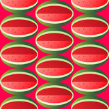 Modèle géométrique sans couture de pastèque juteuse lumineuse Photographie stock