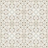 Modèle géométrique sans couture de vecteur abstrait de dentelle dans la lumière gentille YE Photo stock