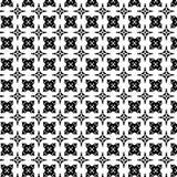 Modèle géométrique sans couture de vecteur abstrait noir et blanc Photographie stock libre de droits