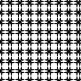 Modèle géométrique sans couture de vecteur abstrait noir et blanc Photos libres de droits
