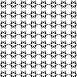 Modèle géométrique sans couture de vecteur abstrait noir et blanc Image stock