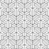 Modèle géométrique sans couture de vecteur - conception décorative Fond créateur abstrait Texture volumétrique linéaire illustration libre de droits