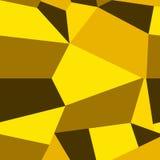 Modèle géométrique sans couture de vecteur de jaune et d'or Photo stock