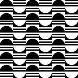 Modèle géométrique sans couture des moitiés du cercle et des rayures illustration de vecteur