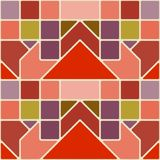 Modèle géométrique sans couture des places et des triangles Photographie stock libre de droits
