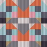 Modèle géométrique sans couture des places et des triangles Photos stock