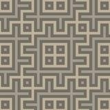 Modèle géométrique sans couture gris dans le style folklorique Photo stock