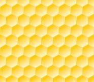 Modèle géométrique sans couture hexagonal avec des nids d'abeilles Image stock