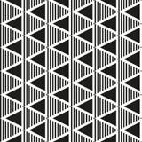 Modèle géométrique sans couture noir et blanc Images libres de droits