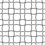 Modèle géométrique sans couture noir et blanc Images stock