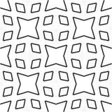Modèle géométrique sans couture noir et blanc Photos stock