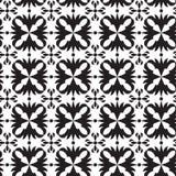 Modèle géométrique sans couture noir et blanc Image libre de droits