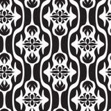 Modèle géométrique sans couture noir et blanc Image stock