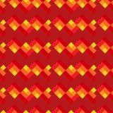 Modèle géométrique sans couture rouge et jaune Photos libres de droits